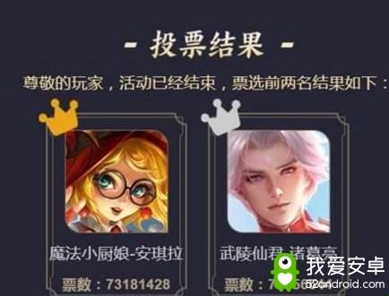王者荣耀四周年限定皮肤返场投票结果公布