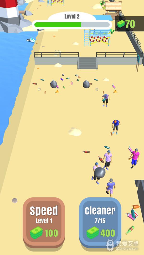 沙滩清洁工